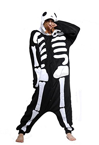 Skeleton Onesie Pajama Costume For Adults and Teenagers Small
