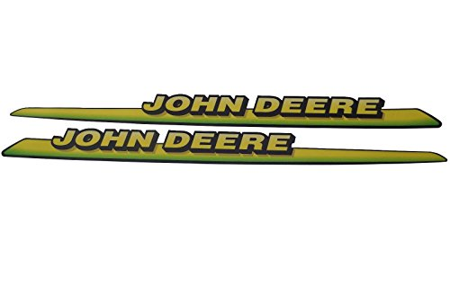 John Deere LH & RH Upper Hood Decal Set AM122823 LT133 LT155 LT166 LTR155 LTR166 (Set Hood Decal)