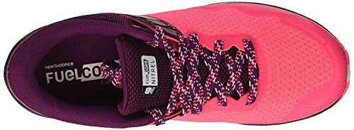 New Balance Women's Nitrel V2 FuelCore Trail Running Shoe, Pink zing/Claret/Pigment, 5.5 D US by New Balance (Image #4)