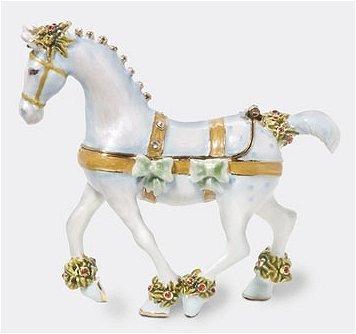 Department 56 Krinkles - White Horse Jeweled Hinged Box