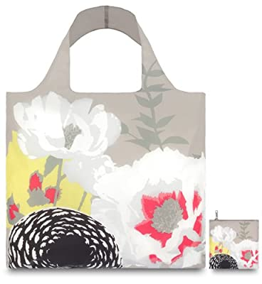 LOQI Prima Dahlia Reusable Shopping Bag, Multicolor