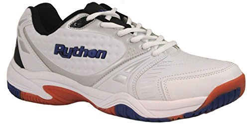 Python Men's Deluxe Indoor (Low) Racquetball Shoe (Non-Marking) 9.5 (D) US White