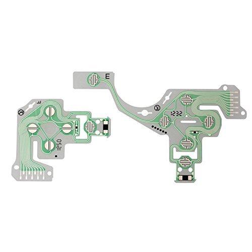 eJiasu New Conductive Film Keypad replacement Ribbon Circuit Board for PS4 Controller Joystick Playstation 4 (1Set)