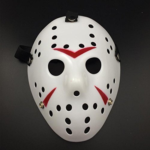 Friday The 13th Horror Hockey Jason Vs. Freddy Mask Halloween Costume Prop (White)