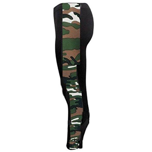 Armée Janisramone Nouveau Panneau Leggings Femme Côté Extensibles Confortable Imprimés gBFgaOqCw