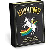 Affirmators! 50 Affirmation Cards Deck to Help You Help Yourself - Without the Self-Helpy-Ness!: 50 Affirmative Cards to…