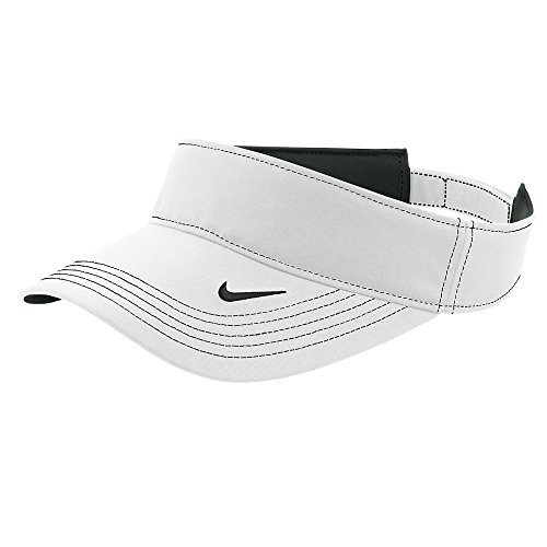 Nike Original Dri-FIT Moisture Wicking Swoosh Adjustable Visor Cap - White