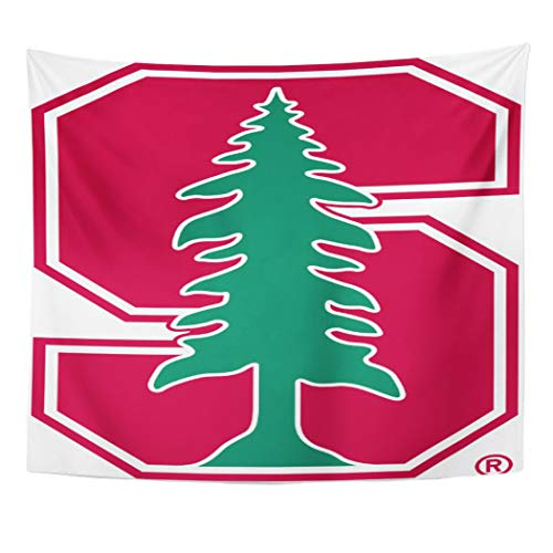 Semtomn Tapestry Artwork Wall Hanging Stanford Cardinal Block Tree University Family The Farm Party 50x60 Inches Tapestries Mattress Tablecloth Curtain Home Decor Print]()