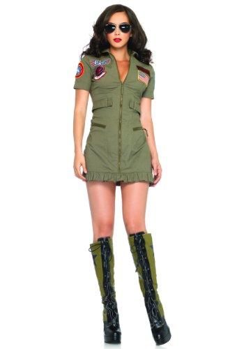 Leg Avenue Women's Top Gun Costume Khaki X-Large (Ladies Top Gun Costume)