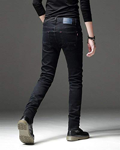 Color Casual Fit Leg Slim Nero Stile Uomo Pure Semplice Pants Jeans Conical Long Da Closure Pantaloni Skinny S7Zw7qY5