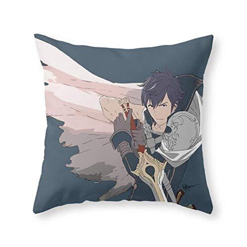 Chrom - Fire Emblem Awakening Print Decorative Square Throw Pillow Covers Cushion Cases Pillowcases for Sofa Bedroom Car 18 x 18 inch 45 x 45 cm