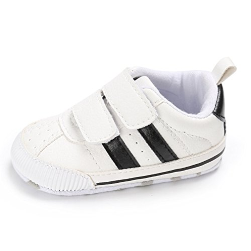 Royal Victory Toddler Baby Boys Girls Shoes 0-18 Months Slip-on PU Leather Crib Shoes Infant Walkers-by RVROVIC]()