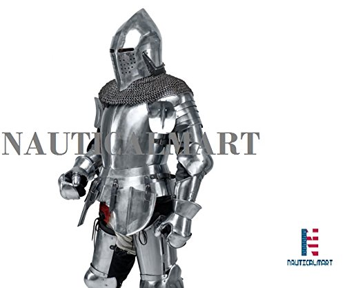 Medieval Knight's Armor SCA LARP steel fantasy battle historical reenactment full medieval armor Halloween by NAUTICALMART (Image #5)