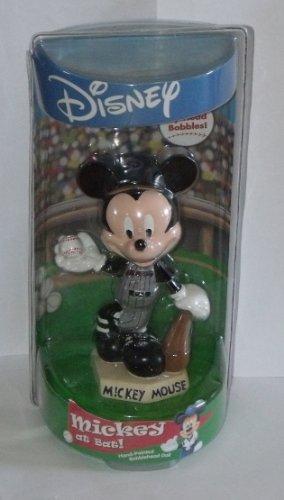 Hand Painted Bobble Head - Disney Mickey Mouse at Bat Hand-painted Bobblehead Doll - Arizona Diamondbacks