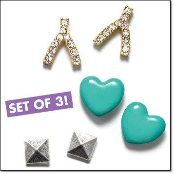 Avon Mark Triple Threat Earrings Set