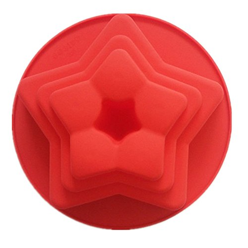 Beautiful Oval Checkerboard Shape (GohEun 3D DIY Star Layers Shape Silicone Cake Mold Baking Pan Kitchen Dining Tools)