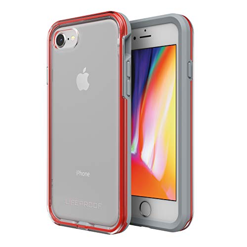 Lifeproof SLAM Series Case for iPhone 8 & 7 (ONLY) - Retail Packaging - Lava Chaser (Clear/Cherry Tomato/Sleet) -