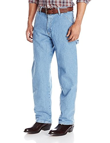 Wrangler Men's Genuine Carpenter Fit Jean (34X30, Bleach Wash) ()
