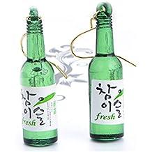 CutieJewelry For Women Girls Cute Beer Bottle Soju Pub Party Unique Bottle Dangle Earrings