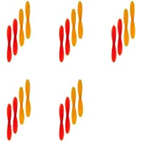 5 x Quantity of Hubsan X4 H107D Red and Yellow Propeller Blades Props Rotor Set 55mm Propellers Factory Units Prop Blade