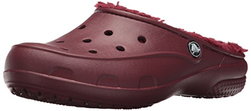 (Crocs Women's Freesail Plush Lined Clog Mule, Garnet, 6 M US)