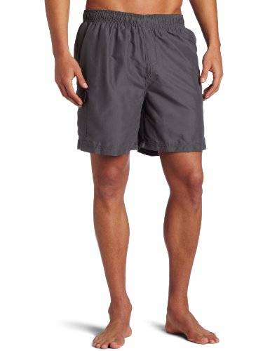 (Kanu Surf Men's Havana Swim Trunks (Regular & Extended Sizes), Charcoal, Small )