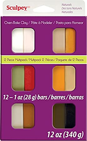 Sculpey S3 VMP-6 Oven Bake Clay III Multipack-Pearls and Pastels, 12 X 1 Ounce Polyform Products S3-VMP6