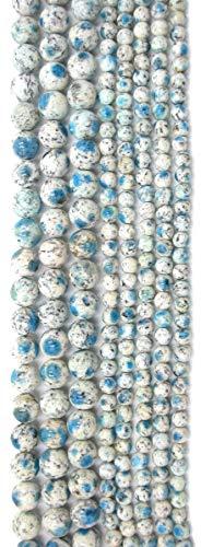 (Rare K2 Blue Jasper Round Beads, 8 inch Strand )