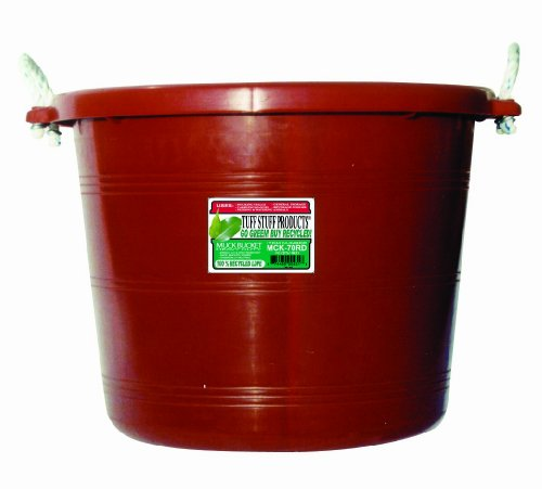 Tuff Stuff Products MCK70RD Muck Bucket, 70-Quart, Red