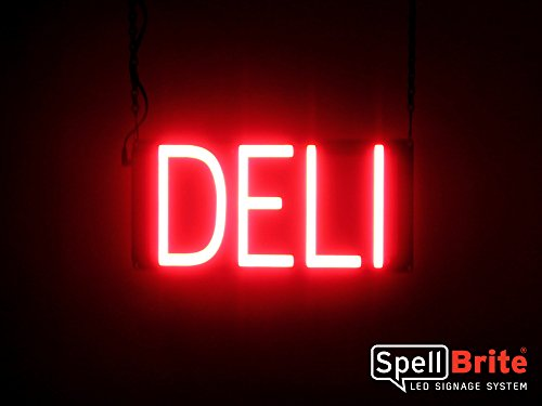 SpellBrite Ultra-Bright DELI Sign Neon-LED Sign (Neon look, LED performance)