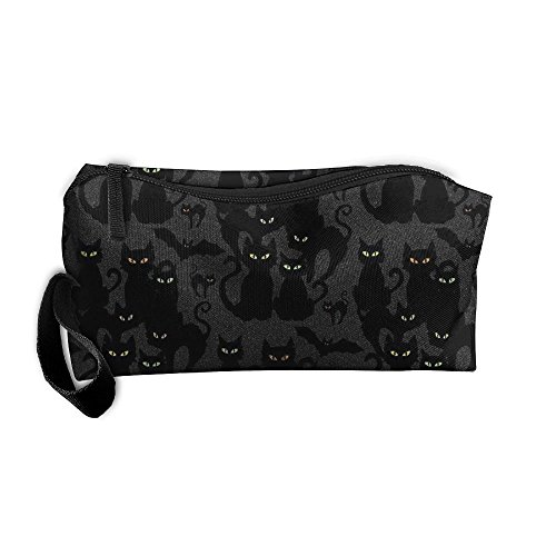 SO27SBAG Portable Durable Waterproof Travel Bag Halloween Cats Eyes On You Home Makeup Toiletry Cosmetic Pencil Medicine Bag