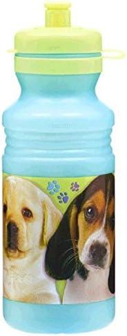 Amazon.com: Cute Party Pups Bebida Botella mano-ojo, 18 oz ...