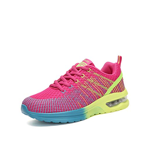 SEVENWELL Outdoor Rosy Sneakers Workout Athletic Flyknit Air Shoes Breathable Max Sport Women's Running rwBTqrgz