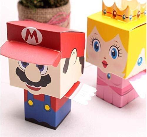 Juego de 60 cajas de caramelos de princesa Super Mario Bros, caja de cumpleaños para niños, caja de fiesta, caja de dulces: Amazon.es: Hogar