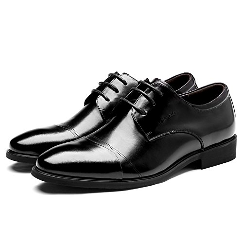 Classiche Scarpe Oxford Uomo Uomo Cerimonia Eleganti Uomo Da Da Pelle Eleganti Stringate Black Nere In Scarpe Derby Da Casual Scarpe 0wqvUWxp