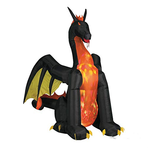 Airblown Light-Up Dragon With Fire Lighted Halloween Character
