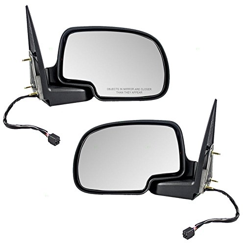 Power Side View Mirrors Heated Puddle Lamp Driver and Passenger Replacements for Chevrolet Cadillac GMC Pickup Truck 88986367 88986366