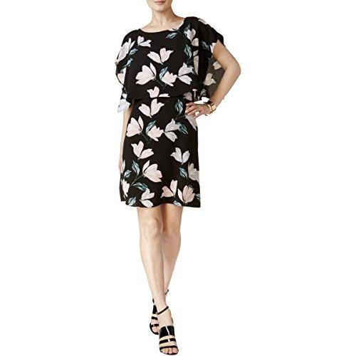 Alfani Floral Dress - Alfani Womens Floral Print Shift Cocktail Dress Black 6