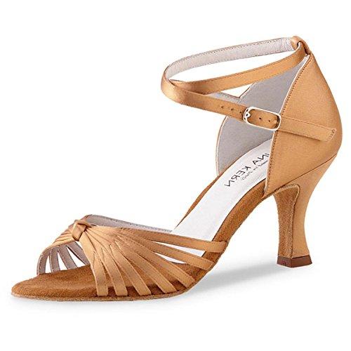 Kern Chaussures Anna 526 Femmes Bronze Satin Danse 60 cm de 6 OqU1n6
