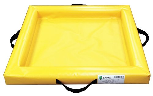 Enpac 5622-YE-F Folding Duck Pond Mini-Berm Containment, 15 Gallon Spill Capacity, 24
