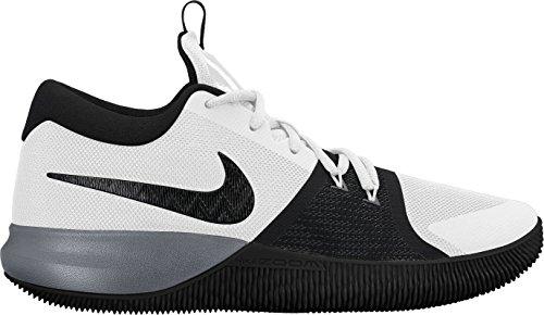 Mens Nike Zoom Assersion Chaussures De Basket-ball Taille 9.5 Blanc / Noir / Gris Frais