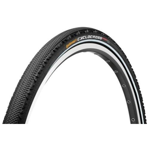Continental Clincher Cyclocross Speed Bicycle Tire (700x35, Wire Beaded, (Cyclocross Tubular Bike Tire)
