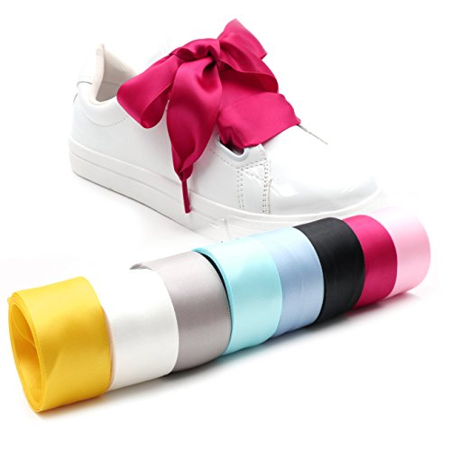 d531748ef05964 COOL LACE Satin Ribbon Shoelaces Flat Shoe Laces for Sneakers (37.4