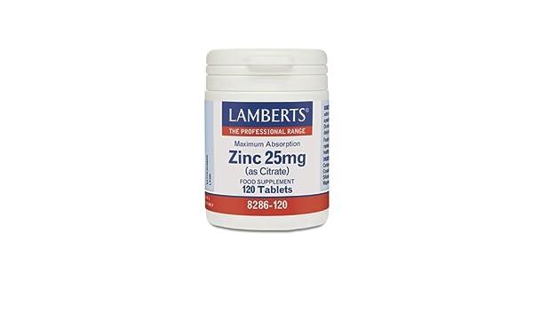 Lamberts Zinc 25 mg - 120 Tabletas: Amazon.es: Salud y ...