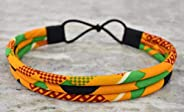All Yellow Kente Headband | 3 Strand Head Piece | Yellow Headband | African Print Headwrap | Natural Hair | Af