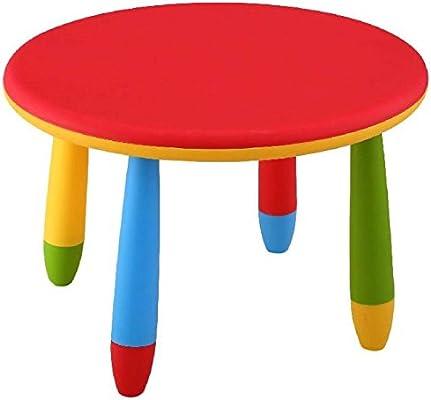 Mueblear 90049 - Mesa infantil redonda de plástico, desmontable ...