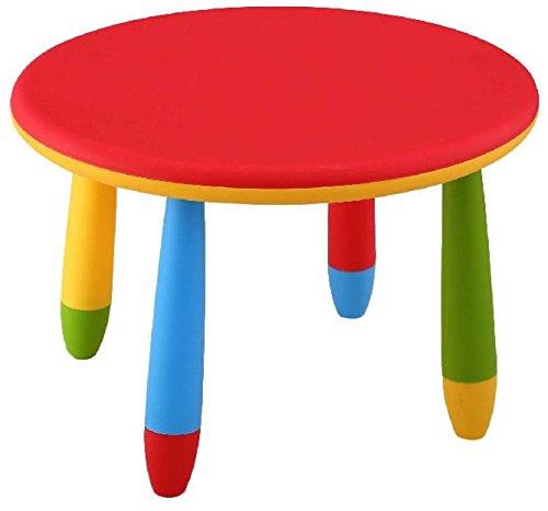 Mueblear 90049 - Mesa infantil redonda de plastico, desmontable, para ninos, color R