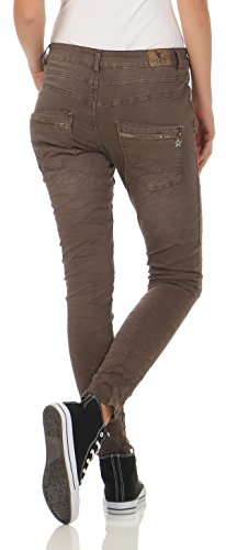 poches Destroyed Cinq Stretch Paillettes Jeans L7118 Boyfriends Brown Hipster Pantalon Boygy Look 7 Femmes Lexxury BPqFIwnw