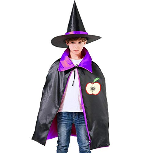 Kids Cloak Parts Of An Apple Wizard Witch