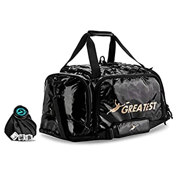 Image of GREATEST Ultimate Frisbee Bag 60 Liter. Built in Insulated Cooler Pocket and Organization Compartments. Waterproof Durable Sports Equipment Duffel Backpack for Outdoor Sports Travel & More Disc Sports